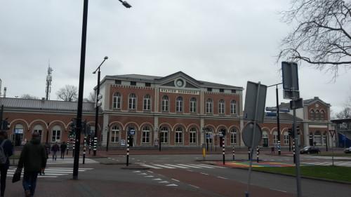 Onderweg naar het station, om de trein te pakken naar Rotterdam.