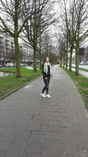 Lekker wandelen door de stad. Ook a was het weer best grauw, het was niet koud en droog, dus dat was wel fijn.